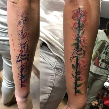 tattoos/ - cover up with cherry flowers - 133138