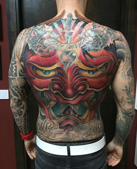 tattoos/ - Hannya Mask Backpiece Filler in Color - 131048