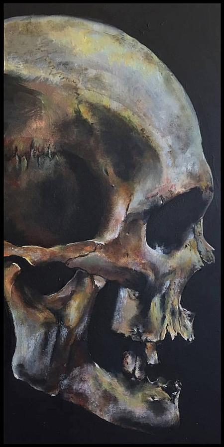 Art Galleries - Skull Oil Painting - 125759