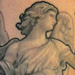Nate Beavers Black and Gray Bernini Angel Statue Tattoo Tattoo Design Thumbnail