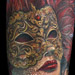 Nate Beavers Realistic Color Venetian Mask Tattoo Tattoo Design Thumbnail