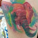 Color Elephant Tattoo Tattoo Design Thumbnail