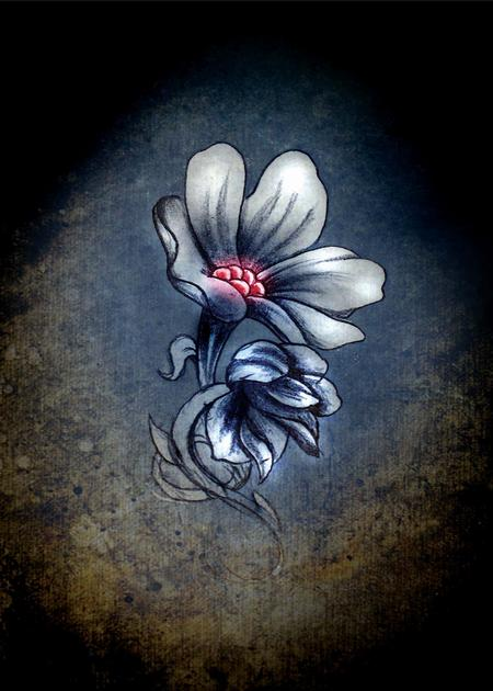 Art Galleries - Digital flower from sketch - 69773