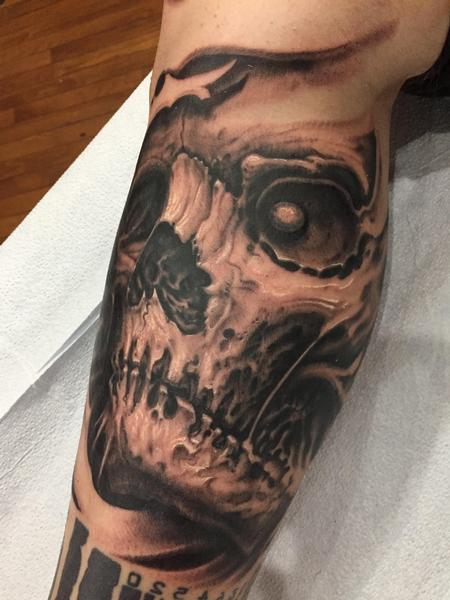 tattoos/ - Black and grey skull - 131558