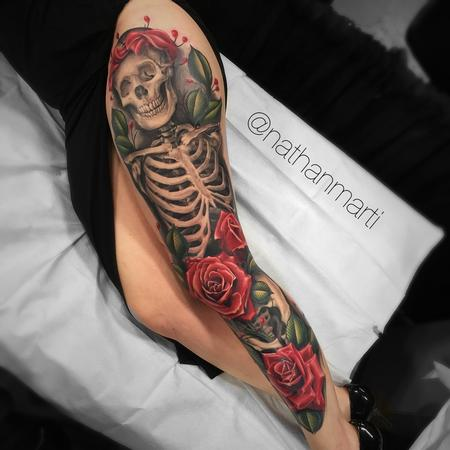tattoos/ - Skeleton and roses - 131560