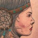 Native American Woman  Tattoo Design Thumbnail
