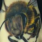 Bee Tattoo on A Pound of Flesh Tattoo Design Thumbnail
