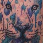 Watercolor Abstract Tiger Tattoo Design Thumbnail