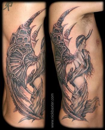 Fantasy tattoos Tattoos Angel With Key
