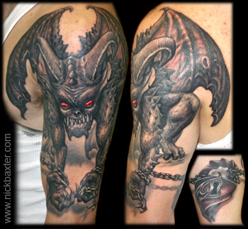 Fantasy tattoos Tattoos Chained Demon