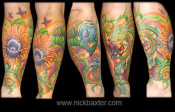 Fantasy tattoos Tattoos Psychedelic Garden