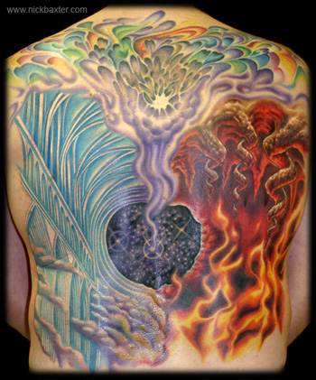 Fantasy tattoos Tattoos Gerry's Heaven And Hell