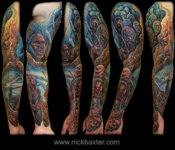 Fantasy tattoos Tattoos Orc Battle Sleeve LOTR OMG LOL