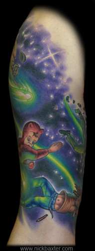 Fantasy tattoos Tattoos Shooting Stars Half sleeve (Front)