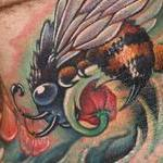 Honey Bee Tattoo Design Thumbnail