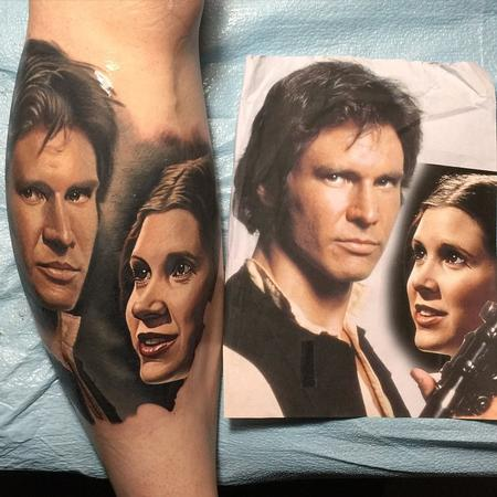 tattoos/ - Han and Leia Tattoo - 104585