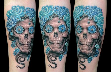 tattoos/ - Skull with roses - 116244