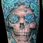 Skull with roses Tattoo Design Thumbnail