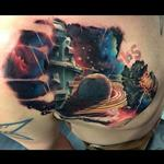 Sci-Fi outer space cover up Tattoo Design Thumbnail