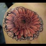 Gerbera Daisy Tattoo Design Thumbnail