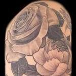 Black and Grey Flowers Tattoo Tattoo Design Thumbnail