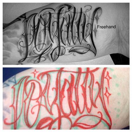 Tattoos - Freehand script - 128077