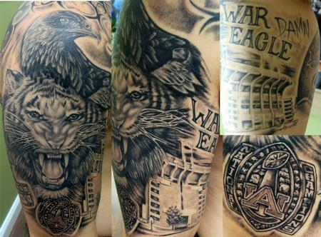 Tattoos - auburn tigers fan - 67227