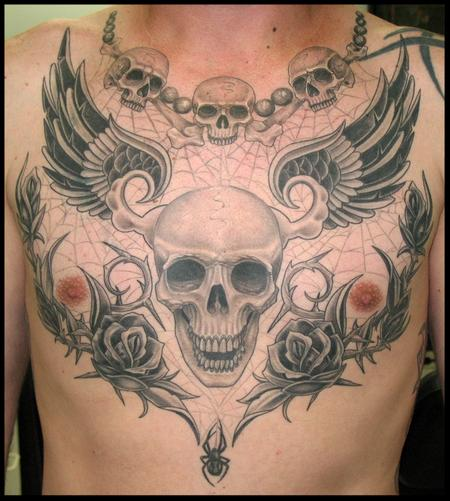 Tattoos - chest skull - 59187