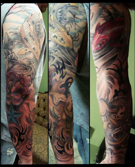 Tattoos - chets arm 2 - 58986