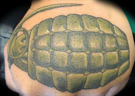 Tattoos - hand grenade - 59190