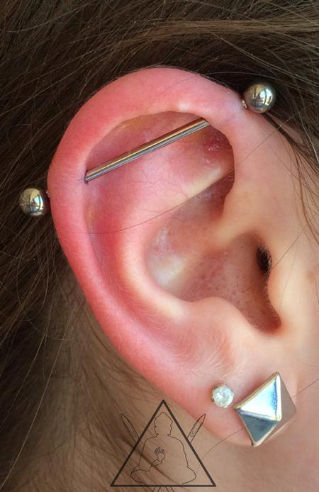 Tattoos - Industrial piercing - 100875