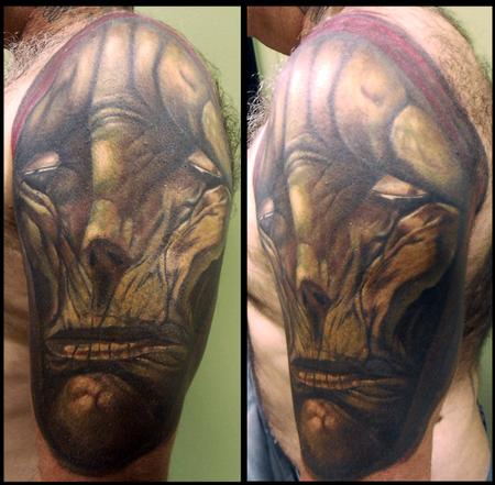 Tattoos - chet zar reaper cover up - 59189