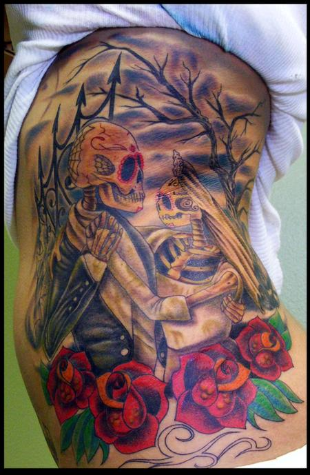 Tattoos - newly wed skeletons - 59192