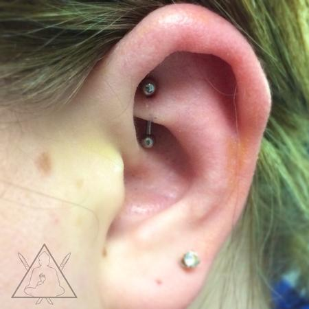 Tattoos - Rook piercing - 100892