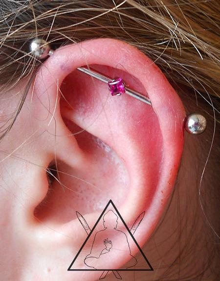 Tattoos - Industrial piercing - 100893