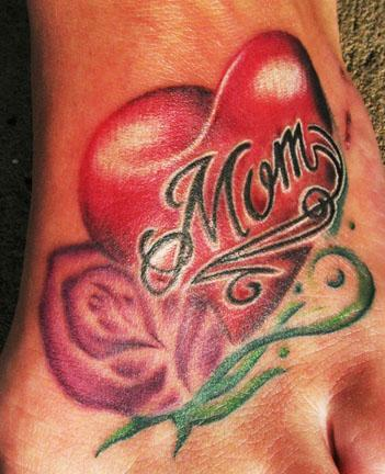 Tattoos - mom foot - 58870
