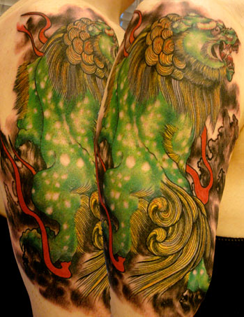 Tattoos - Nature Animal Lion tattoos - Foo Dog