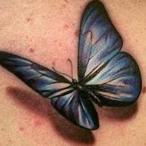Realistic Butterfly Tattoo Design Thumbnail