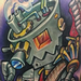Steampunk Guitar Player Tattoo Design Thumbnail