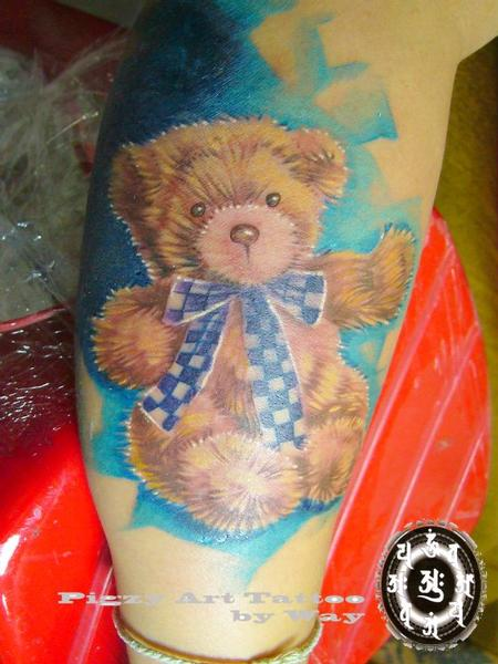 tattoos/ - Color Teddy Bear Tattoo - 60507
