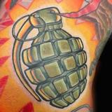 Grenade Tattoo Tattoo Design Thumbnail