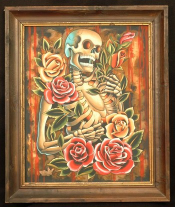 Art Galleries - Skeleton and Roses - 47260