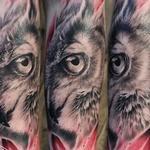 Pink owl Tattoo Design Thumbnail