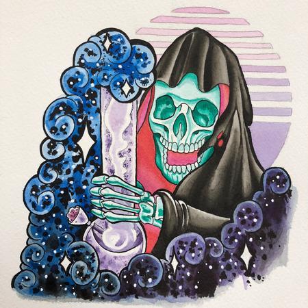 Art Galleries - Watercolor Grim Ripper - 131708