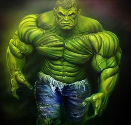 Art Galleries - Freehand Airbrush Hulk - 131758
