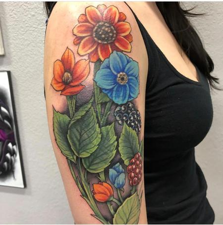 tattoos/ - Illustrative Floral Coverup - 132052