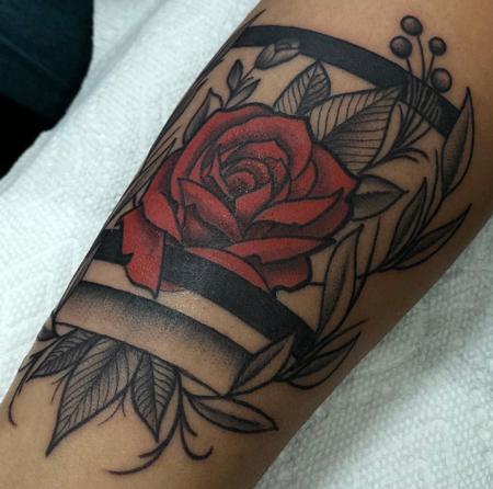 tattoos/ - Blackwork Floral Forearm  - 133522