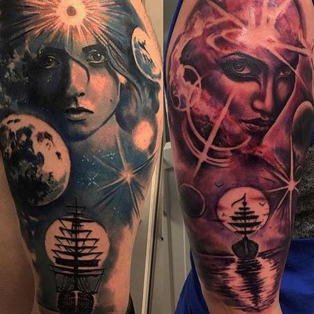 Star - Brother / Sister Matching Sleeve Tattoos