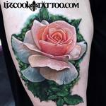 Realistic Rose Tattoo Design Thumbnail
