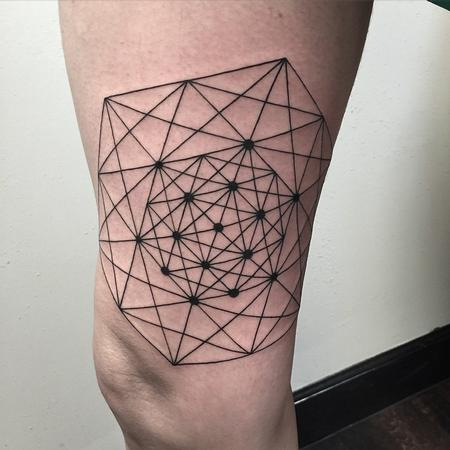 Black and Gray - Geometrical Tattoo
